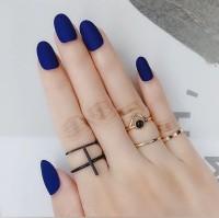 MSO Matte Short Oval Batangan Kuku Palsu Casual Fake Nails