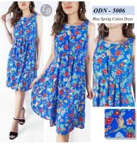 BBJ05267 OldNavy Blue Spring Casual Dress Swing Dress Santai Liburan