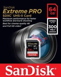 Sandisk SDHC Extreme Pro 64GB UHS-II 300MB/s - SDSDXPK-128GB
