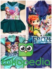 Baju Renang Anak Perempuan (4 - 5 thn) Motif