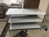 kitchen table stainless steel / work table stainless / meja dapur
