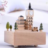 Kotak musik kayu wooden music box london big ben