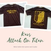 Kaos t-shirt anime attack on titan (shingeki no kyojin)