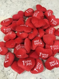 Boneka bantal mini hati i love you valentine heart