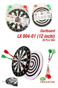 DART GAME SIZE 12 inch / Papan Dart Board Kecil Ukuran 30 cm