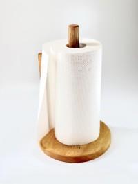 Wooden Tissue holder Tempat tisu dapur roll gulung besar