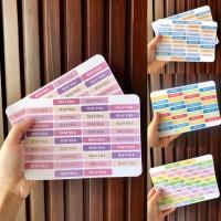 Cutting Stiker label nama anak warna waterproof