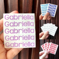 Cutting sticker label nama vinyl decal oracal