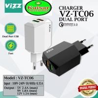VIZZ VZ-TC06 ORIGINAL CHARGER QUALCOMM 3.0 FAST CHARGING DUAL PORT