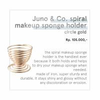 JUNO&Co. - SPIRAL MAKEUP SPONGE HOLDER ( CIRCLE GOLD )