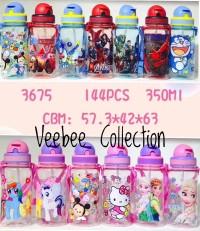 Botol minum 350ml Kitty Doraemon LOL Tsumtsum Pony Cars Frozen. Soveni