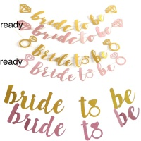 banner BRIDE TO BE untuk pesta bachelor party atau bridal shower