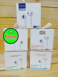 OPPO R11 HANDSFREE HEADSET EARPHONE + Mic Colokan 3.5mm