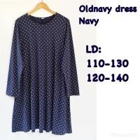Old navy swing dress long sleeve navy polka inna