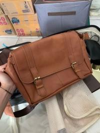 Tas kamera / messenger bag kulit. (Bekas/second)