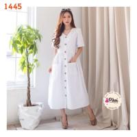 Sabrina dress bangkok / button midi dress / dress kancing korea murah