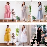 Dress sandra dewi / maxi dress murah / dress katun import / cewe korea