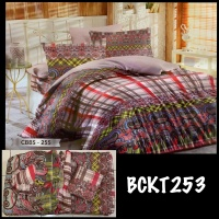 Sprei set 180X200 + Bed cover KING SIZE Katun poly Tc 70 Best Seller!