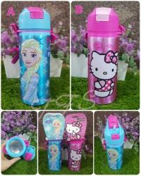 Botol Minum Sedot Stainless Frozen, Hello Kitty, Cars, Spiderman (KTF)