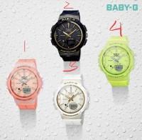 New!! Jam Tangan Wanita Casio Baby G Type BGS 100 Ori Bm Free Yes