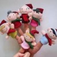 Boneka Jari Seri Keluarga-Xmas (Family-Christmas Finger Puppets)