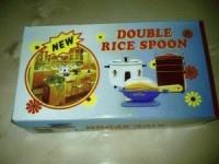 Double rice spoon
