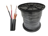 Kabel Coaxial CCTV RG59 + Power panjang 45 Meter ( Warna Hitam )