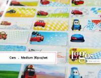Cars Sticker MEDIUM Name Label. Stiker karakter Lightning McQueen Mater disney lucu nama anak di buku tas sekolah hp hadiah