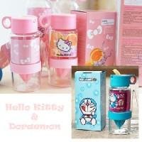 Botol Citrus Zinger Anak + Sedotan Juicer Juice Alat Perasan Buah Jeruk Fruit Kid Kids Karakter Hello Kitty Doraemon Dora Emon