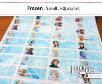 Frozen Sticker. Name Label Small. Stiker karakter Frozen. cocok untuk nama anak buku, tas, sekolah, hadiah