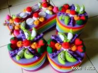 Toples Flanel Rainbow Fruty