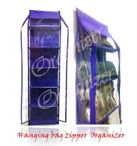 HBOZ hanging bag organizer zipper tempat simpan tas seleting