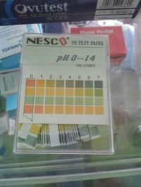 Kertas PH Nesco / PH Paper / Lakmus mengetahui PH air ( asam , basa ,