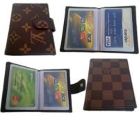 Dompet Kartu Cover Kulit Imitasi Dalam Plastik