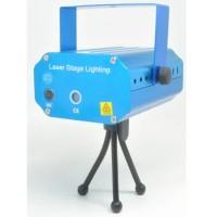 Mini Laser Stage Light Multicolor Projector 12 Pattern - Blue
