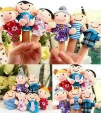 boneka jari family bonjar keluarga mainan edukasi anak kids balita