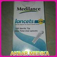 MEDILANCE BLOOD LANCET 21G - JARUM BEKAM SAMPLE DARAH 100PCS/BOX