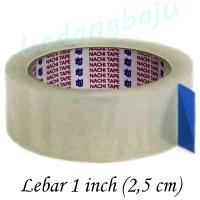 Lakban Bening Nachi 1 inch / OPP Tape / Plakban Naci Isolasi Solasi