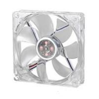 Fan/Kipas Casing PC 8cm Transparan LED 4Warna STD