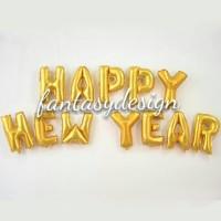 BALON FOIL HURUF HAPPY NEW YEAR GOLD