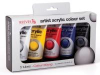 Reeves Acrylic Colour Fine Artist Set 5 x 75ml