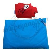 Olus Pillow Biru & Sarung Extra Merah
