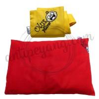 Olus Pillow Merah & Sarung Extra Kuning