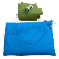 Olus Pillow Biru & Sarung Extra Hijau Tua
