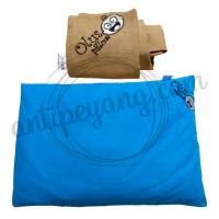 Olus Pillow Biru & Sarung Extra Mocca