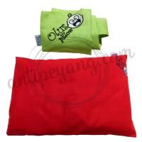 Olus Pillow Merah & Sarung Extra Hijau Muda