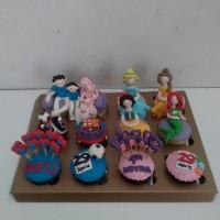 Cupcakes Bday Princess & Barca / Kue Ulang Tahun Anak