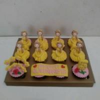 Cupcakes Bday Princess Belle / Kue Ulang Tahun Anak