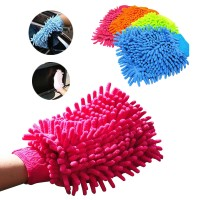 Two-sided Car Wash Glove Microfiber Chenille Car Cleaning Cloth Glove - Lap tangan