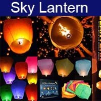Lampion Terbang / Sky Lantern Fire Baloon / Lampu Doa (Make a Wish)